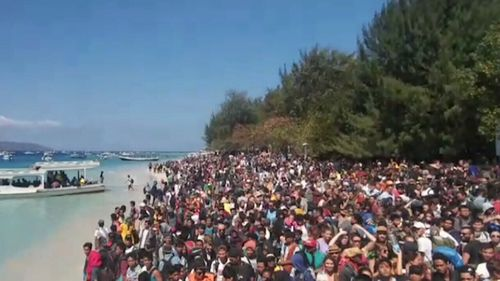 Thousands are trying to flee the area. Picture: Supplied