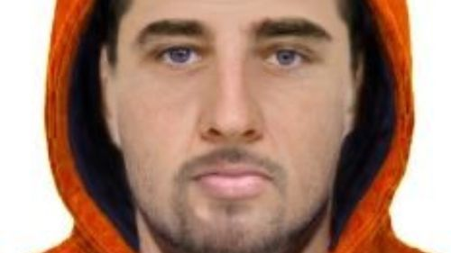 A digital image of the suspect's face.