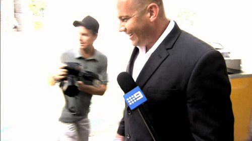 Matthew Scown laughed as he walked free from court.