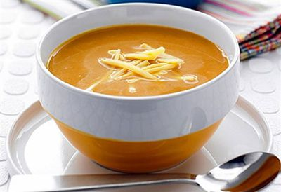 Roasted root vegie soup with kumara