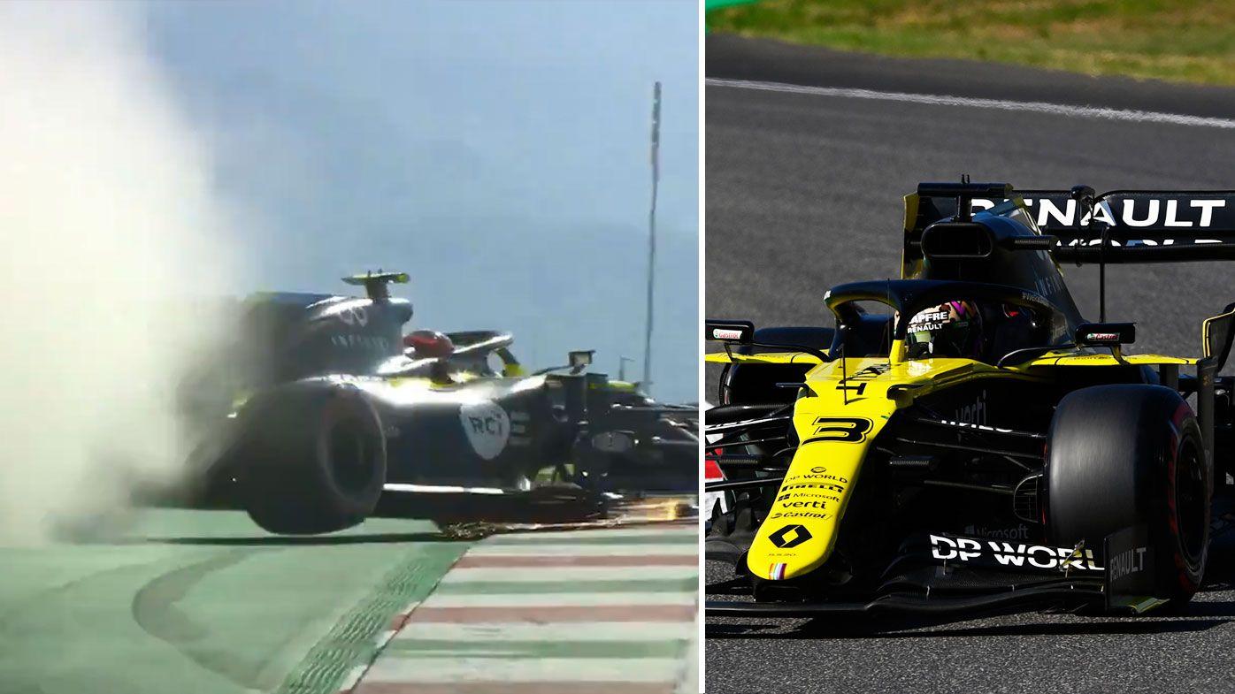 Ocon crash ruins Tuscan qualifying.