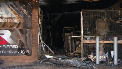 Supplement shop destroyed in 'suspicious' blaze