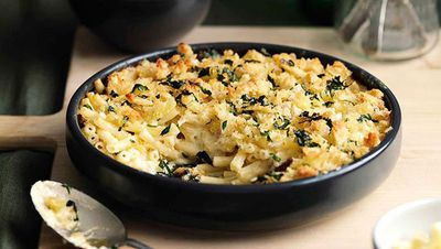 """Recipe:&nbsp;<a href=""""http://kitchen.nine.com.au/2016/05/16/16/50/maccheroni-al-formaggio"""" target=""""_top"""">Maccheroni al formaggio (macaroni cheese)</a>"""