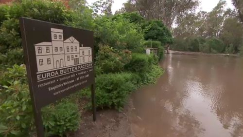 Euroa's roads have been inundated. (9NEWS)