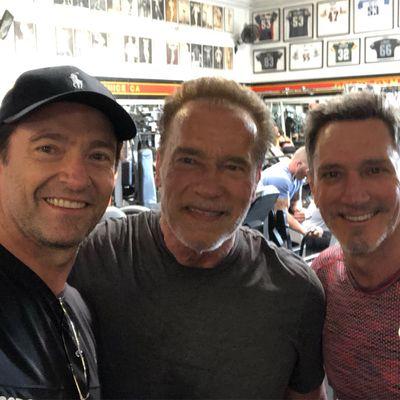 Hugh Jackman and Arnold Scwarznegger
