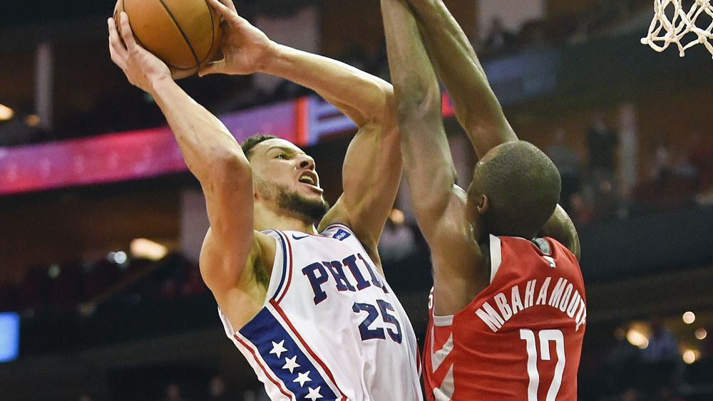 fd4f42c94 NBA  Ben Simmons scores team-high 24 points to lead Philadelphia 76ers to  win over Houston Rockets