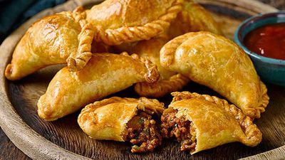 """Spiced beef and olive empanadas - <a href=""""http://kitchen.nine.com.au/2016/05/05/13/29/spiced-beef-and-olive-empanadas"""" target=""""_top"""">view recipe</a>"""