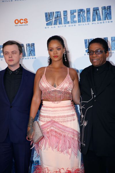 Rihanna in Prada at the Paris premiere of <em>Valerian and the City</em>  on July 25.