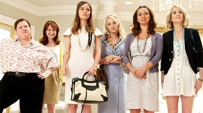 Bridesmaids, cast, movie, scene, bridal store