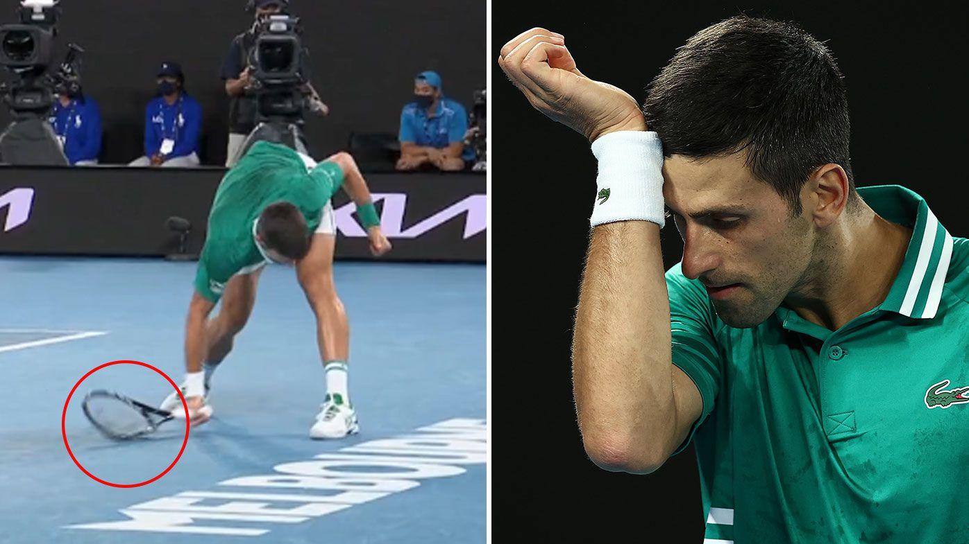 'He got his money's worth': Novak Djokovic destroys racquet in all-time Australian Open blow-up