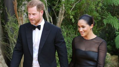 Harry and Meghan at the Lion King premiere, July 2019