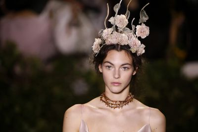 <p>Maria Grazia Chiuri, creative director of Christian Dior, has debuted her first haute couture collection for the house and it was nothing less than magical. It's no wonder that the world's most famous stars have begun putting in orders already. These are the gowns we are likely to see float down the red carpet when award season rolls in.</p> <p>And about those gowns? They were princess meets garden pixie meets Nordic goddess with details such as embroidery, beading and flowers upping the fairy tale feel. Hair was loose with romantic tendrils, skin matte and lips stained a natural berry. Eyes were bare but highlighted with a smudge of black eyeliner dotted beneath the lash line while an occasional model sported a miniature black star at the inner corner of the eye, both styles working to emphasise the Midsummer Night's Dream atmosphere.</p> <p>Chiuri told The Guardian that she wanted the clothes to be 'dreamy, but also modern and wearable'. And, as you'll see from the exquisite pictures to follow, she achieved exactly that.</p>