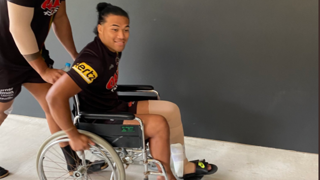 Mystery hangs over Panthers star in wheelchair
