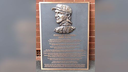Plaque erected at SCG honours late batsman Phillip Hughes, the Boy from Macksville