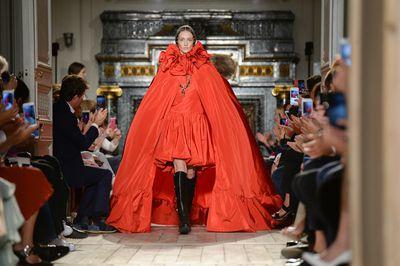 <p>In the red</p> <p>Valentino, haute couture autumn/winter, '16/'17, Paris Fashion Week</p>