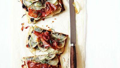 "Recipe: <a href=""http://kitchen.nine.com.au/2016/05/16/12/39/potato-schiacciata"" target=""_top"">Potato schiacciata</a>"