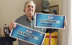 Canadian man forced to split $5 million lottery jackpot with himself