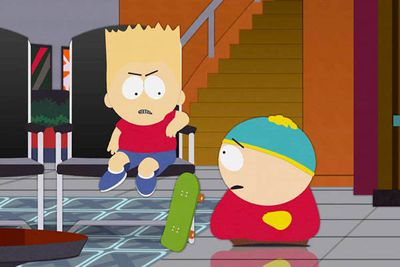 <B>The episode:</B> 'Cartoon Wars' (2006)<br/><br/><B>The strike:</B> South Park, the <I>other</I> big animated sitcom, threw its weight behind <I>The Simpsons</I> in 'Cartoon Wars', which is basically a two-part evisceration of <I>Family Guy</I>. In the second half, Cartman teams up with a Bart Simpson lookalike to take down their rival cartoon.<br/><br/><B>Advantage:</B> <I>The Simpsons</I>, though the true winner is <I>South Park</I> &mdash; this episode is awesome (not to mention that it's the only one of the three to maintain its high quality over the years).