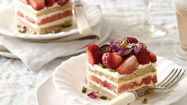 Strawberry and watermelon cake