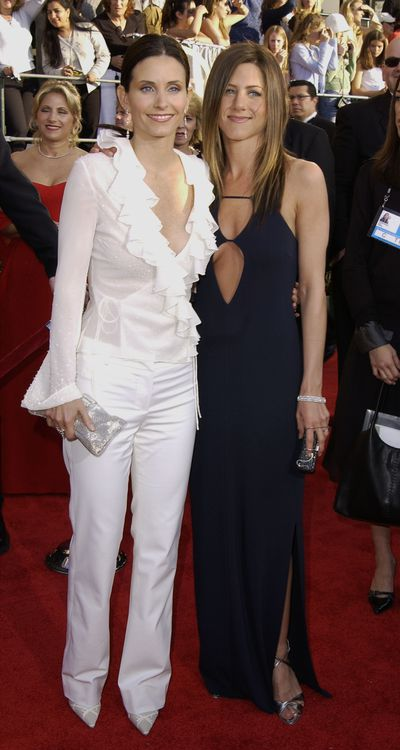 Courteney Cox and Jennifer Aniston at the 9th Annual Screen Actors Guild Awards in Los Angeles, March, 2003