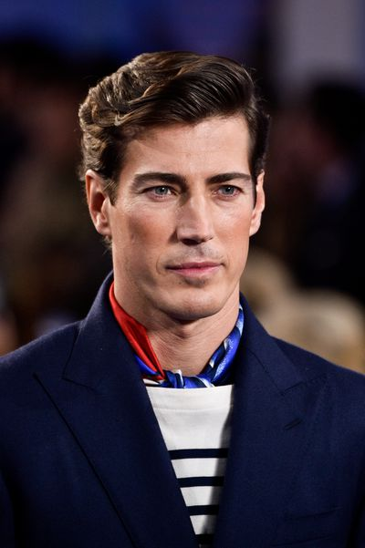 The clothes were preppy with a strong nautical edge, in other words typical Ralph Lauren. Perfect complexions signalled that the Ralph Lauren man had made his way from the tailor to the makeup counter.