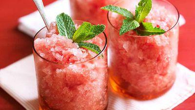 "Recipe:<a href=""https://kitchen.nine.com.au/2016/05/16/17/34/watermelon-and-mint-granita"" target=""_top"" draggable=""false"">Watermelon and mint granita</a>"