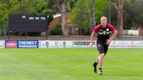 Hannah Mouncey has been rejected from playing in the AFLW. (60 Minutes)