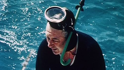 Harold Holt enjoyed swimming and spearfishing. (AAP)