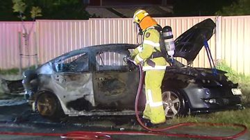Police investigate torched stolen cars in Perth's north
