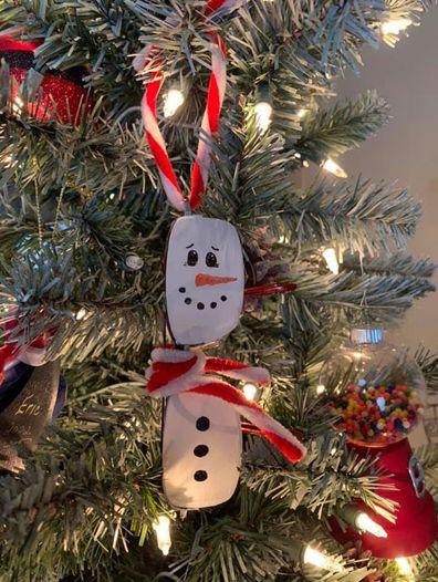 Christy Critchett Hester made an ornament for her Christmas tree using her late husband Richard's glasses