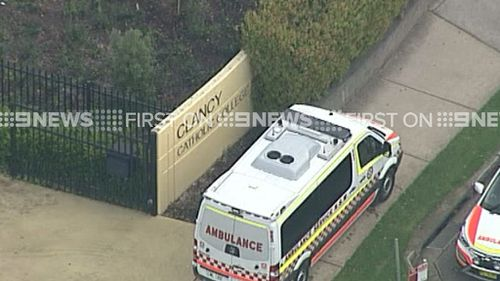 Four ambulances were called to Clancy Catholic College. (9NEWS)