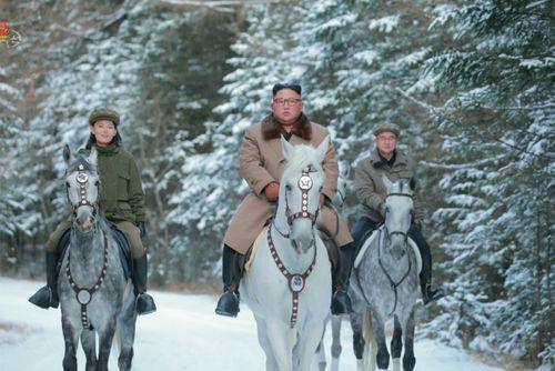 Jo Yong Won accompanied Kim Jong Un on a ride to a sacred mountain.
