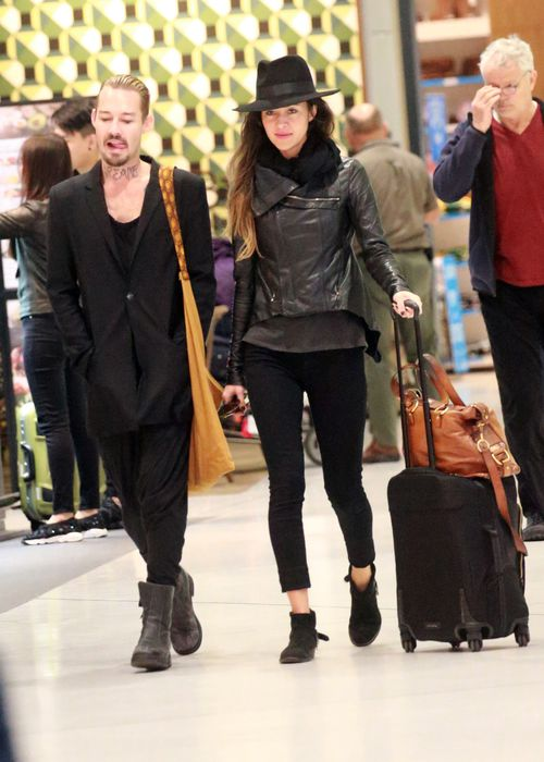 Leslie and Johns at Los Angeles Airport. (Diimex)