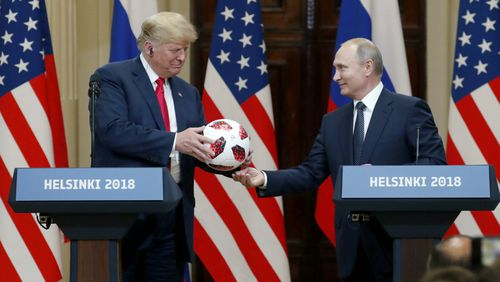 Donald Trump's meeting with Vladimir Putin in Helsinki has been slammed by sections of his own government. (AAP)