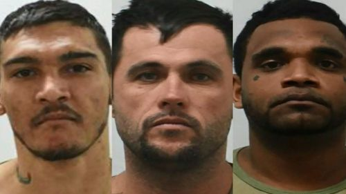 Road pursuit, spikes deployed as police hunt three Townsville prison escapees