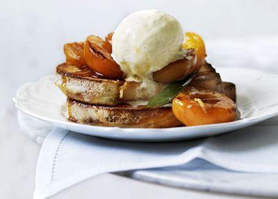 """Recipe:<a href=""""http://kitchen.nine.com.au/2016/05/17/13/13/verjuice-apricots-with-brioche-and-vanilla-icecream"""" target=""""_top"""" draggable=""""false"""">Verjuice apricots with brioche and vanilla ice-cream<br> </a>"""