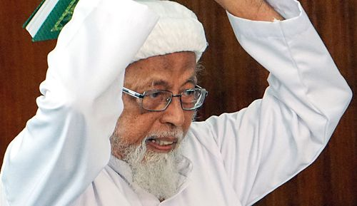 Bashir, 80, insists he is only answerable to God and that Indonesia should be governed by Islamic rather than civil law.
