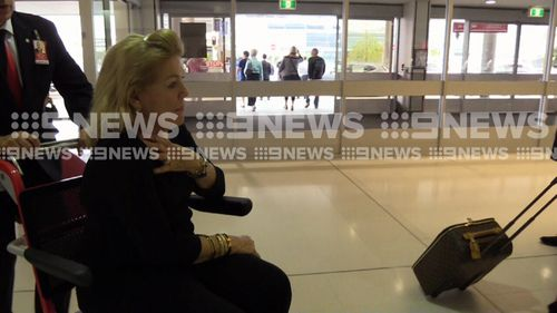 Ms Packer did not comment to media at the airport. (9NEWS)