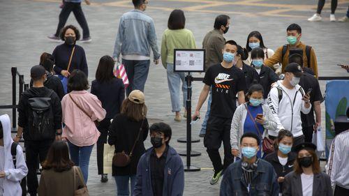 Pedestrians in Beijing