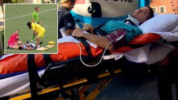 Paralysed footballer returns home