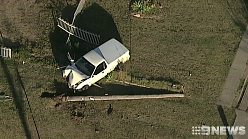 Young driver killed when ute veered off road and crashed into power pole in Sydney's south-west.