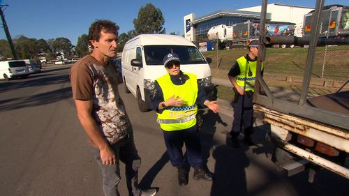 Truck driver Les Williams has been ordered to face court for failing to secure his load. (9NEWS)