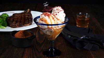 Steak and bourbon ice cream exists