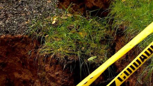 A spokesperson for the City of Asheville said the sinkhole is on private property, so it's up to the property owner to fill the hole.