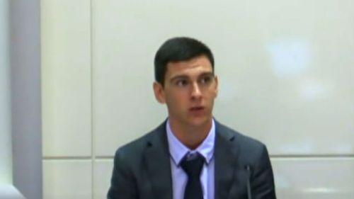 Dylan Voller gives evidence at the commission hearing today. (Supplied)
