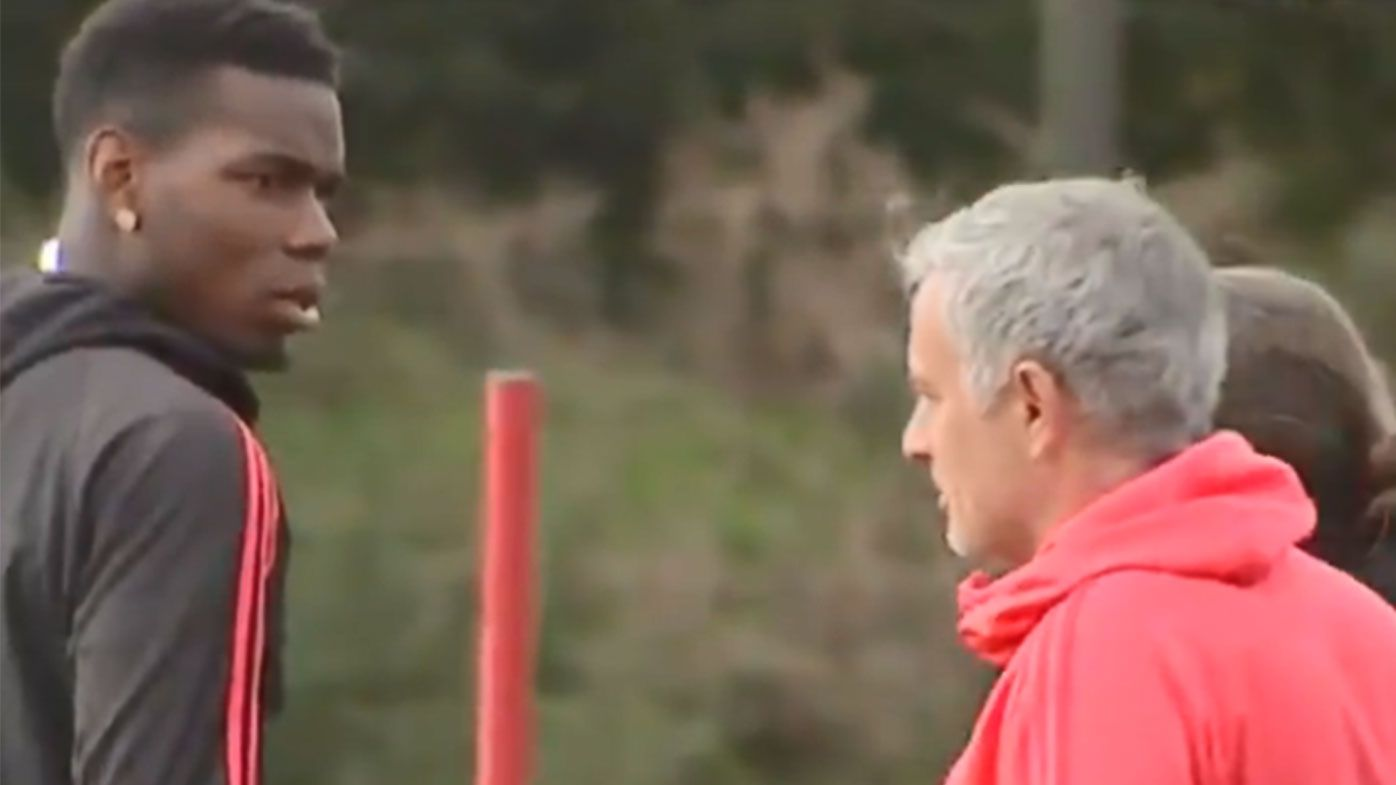 Jose Mourinho and Paul Pogba involved in tense training ground exchange