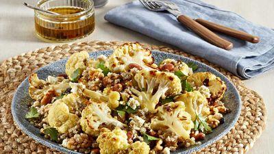 """Recipe: <a href=""""http://kitchen.nine.com.au/2018/01/29/15/35/superblend-cauliflower-salad"""" target=""""_top"""">Mckenzie cauliflower salad</a>"""