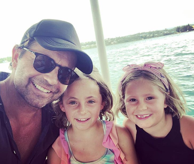 Jacobs with his daughters Isabella and Francesca.