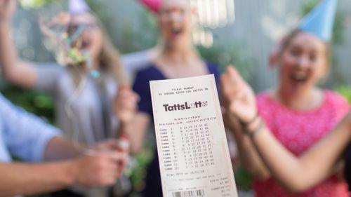 Lotto ticket stock image.
