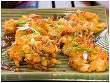 Indonesian vegetable fritters